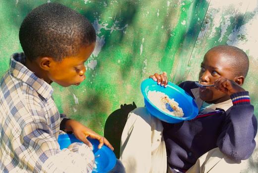 Kinder in Lesotho von Linus Neumann